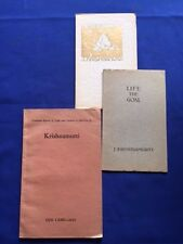 SIX KRISHNAMURTI PAMPHLETS -  EACH A FIRST EDITION FROM BETWEEN 1927 & 1934