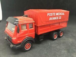Solido Toner gam camion MERCEDES pompiers poste medical avance 22 original 1/60