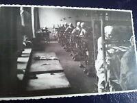 fotografia antica gruppo LAVORATRICI ALLE MACCHINE