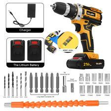 More details for 21v cordless drill driver li-ion battery electric screwdriver combi + 2 battery