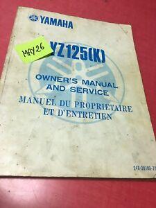 Yamaha YZ125 K Revisión Técnica Moto Manual Taller Propriètaire YZ 125