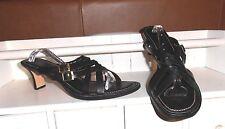 LNC* Sz 8.5  EASY SPIRIT; Black Criss-Cross Leather w 2 Buckles; Sandal Shoes