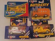 1991 Corgi /Auto City Construction Wrecker Truck Die cast 1:43 Pack 4