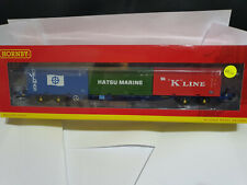 Hornby R6958 KFA with 3x 20ft containers 93390 wagon BNIB