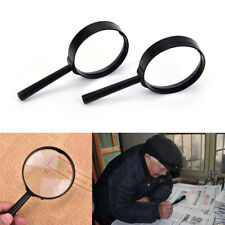 1Pcs Magnifier 60mm Handheld 5X Magnifying Glass Handheld Low Vision Reading^~,v