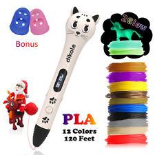 Dikale 3D Printing Pen with 12 Colors Total 120 Feet 1.75mm PLA Filament Refills