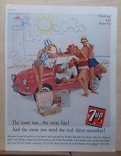 1961 magazine ad for Seven Up Soda - The More Sun The More Fun, Summer ad