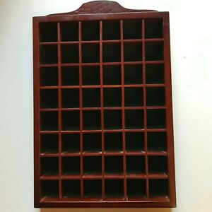 Wooden Thimble Display Case for 48 Collectable Items - Lot 2