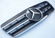 Black with Chrome 3 fin grill for Mercedes CLK W208 1997-2002 clk200 clk230 320