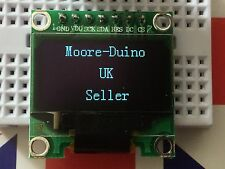 "Blanc spi 128X64 oled lcd led module d'affichage pour Arduino 0.96"" série uk neuf"