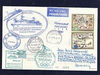 49525) LH Olympiade SF Frankfurt - Tokio/Nagano 2.2.98, cover MS Berlin Portugal