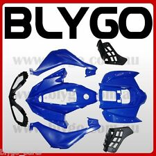 BLUE Plastics Fairing Fenders Cover Guard Kit 250cc Sport Quad Dirt Bike ATV