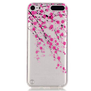 For iPod Touch 5th 6th & 7th Gen -TPU Gummy Rubber Transparent Clear Case Cover
