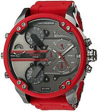 NEW DIESEL DZ7370 RED MENS MR DADDY 2.0 57MM CHRONOGRAPH WATCH !