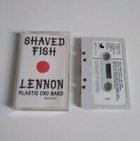 JOHN LENNON PLASTIC ONO BAND SHAVED FISH CASSETTE TAPE '75 PAPER LABEL EMI APPLE