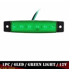 "1x 3.8"" Marker Side Light 6 LED Indicators Clearance For Truck Trailer 12V Green"