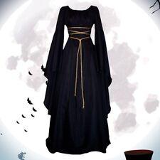 Womens Vintage Medieval Dress Victorian Renaissance Gothic Costume Gown Dress