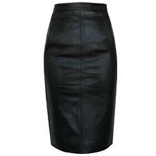 GARETH PUGH $1,600 black lamb leather stretch back pencil zipper skirt 40 NEW