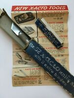 Vintage X-ACTO Knife #52 with Box, Brochure and 5 Extra Blades