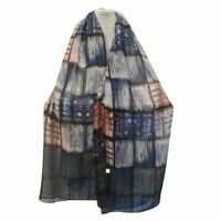 Sciarpa donna estiva foulard grande stola scialle pashmina scaldacollo da blu