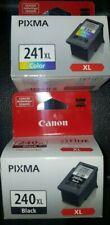 NEW Open Box CANON PIXMA Ink CARTRIDGES 240XL Black, 241 XL Color