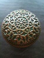 Beautiful Antique Brass Bronze Door Knob Victorian Eastlake Rare RHC Elaine