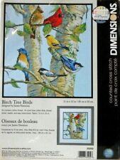 "New listing #35252 Dimensions ""Birch Tree Birds"" Cardinal Cross Stitch Kit - Gorgeous & Nip!"