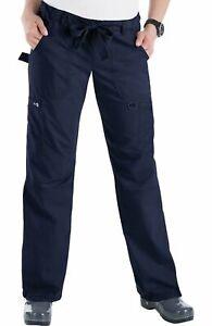 """Koi Scrubs #701 Elastic Waist Cargo Scrub Pant in """"NAVY"""" Size 2XL"""