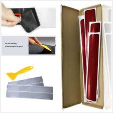 4Pcs 3D Carbon Fiber Silver Car Door Sill Plate Scuff Sticker Anti-kick Scratch