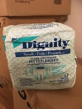 1 BAG 12 DIGNITY SMALL PETIT SUPER ABSORBENT FITTED BRIEFS