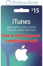 Carte-cadeau iTunes $15 USD - Apple Carte Prépayée 15 US Dollars Code Clé USA