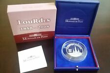 "France 20 Euro Silver Proof coin 2008 ""Lourdes"" in box +COA 500pcs John Paul II"