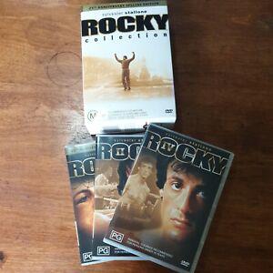 Rocky 1-5 Collection Stallone DVD Box Set VGC FREE POST R4