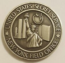 """United States Secret Service Antique Silver New York Field Office 1.75"""""""