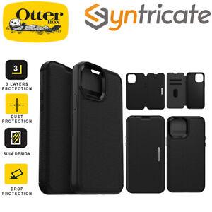 "iPhone 13 Pro (6.1"") OtterBox Strada Card Folio Wallet Case - Black"