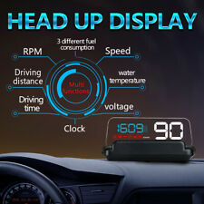 C500 OBD2 Hud Head-Up Display With Mirror Projection Digital Car Speed Projector