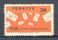 30910) TURKEY 1958 MNH** Intl. Letter Writing Week 1v.