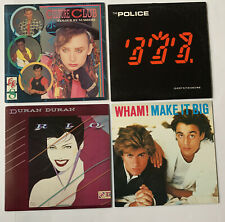 80s Album Lp Lot Police, Duran Duran, Wham, Culture Club Pop Rock Euc