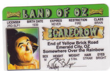 The Scarecrow - The Wizard of OZ novelty plastic collectors card Drivers License