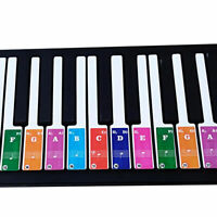 Colorful Key Piano Keyboard Stickers Key Note Label Decal For 49 / 37 /61 /88