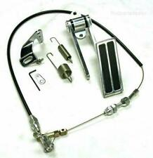 Firewall Mount Billet Throttle Gas Pedal Kit W/ With Cable & Return Spring NEW