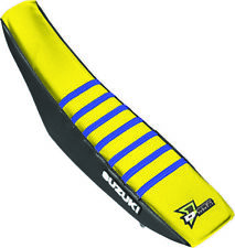 DCOR - 30-40-454 - Factory Reinforced Seat Cover, Black/Yellow/Blue Ribs 13-5222