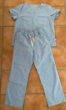Medelita Womens Scrub Set; Shirt And Drawstring Pants, (blue) Size Large