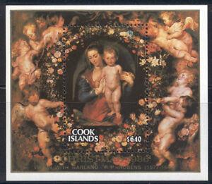 Cook Islands - MNH 1986 Christmas souvenir sheet #923 cv 15.00 Lot #131