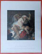 Karl Truppe BACCHUS und ARIADNE  AKT EROTIK  montierter Kunstdruck von 1942