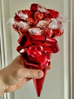Red Roses Lindt Lindor Chocolate Bouquet Gift For Birthday Mother's Day