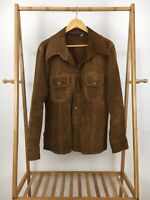 VTG 70s JCPenny Men's Brown Suede Leather Snap Button Western Jacket Sz 42 RARE