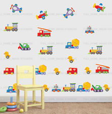 Toy Cars/Truck/Duck Transport 23pc Wall Sticker Decal Nursery Baby Kids Decor