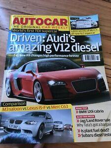 Autocar Car magazine APRIL 2008 R8 M3 ISF C63 120i 135i B3 CUPRA FREELANDER LEON