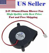 24V DC GDSTIME Blower Cooling Fan 5015 Hotend Extruder  RepRap 3D Printer 2Pin